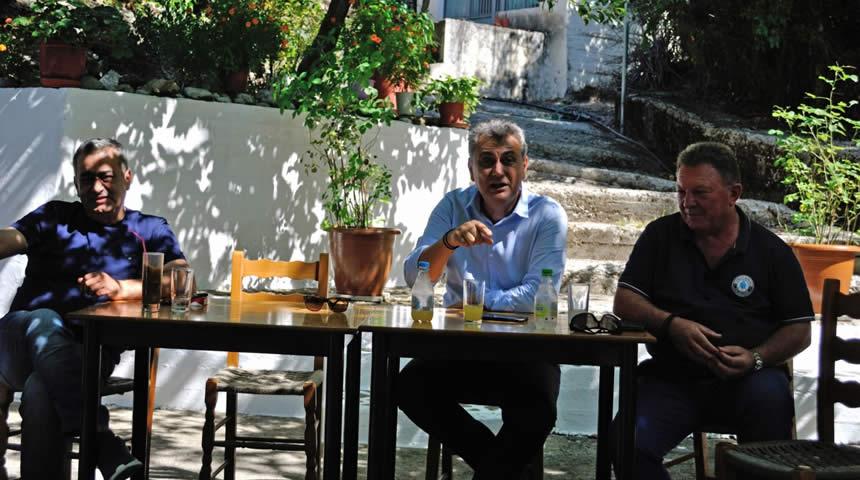 Περιοδεία του βουλευτή Γ. Κωτσού σε χωριά της Αργιθέας - Συνεργασία με Κ. Νούσιο & Δ. Κουτρομάνο για οδικά έργα