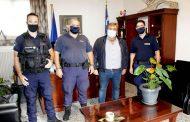 Επίσκεψη κλιμακίου ΚΑΜ Τρικάλων στον Δήμαρχο Πύλης Κ. Μαράβα