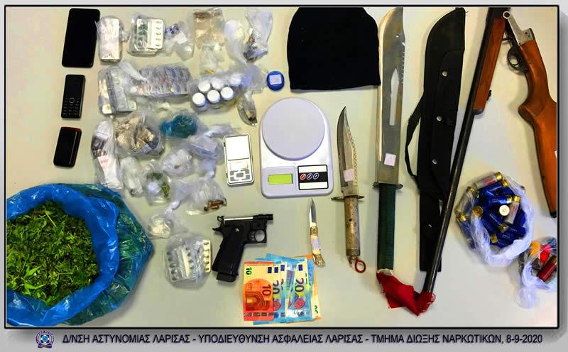 Τρίκαλα: Δύο συλλήψεις για παραβάσεις των νόμων περί ναρκωτικών και περί όπλων