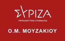 ΟΜ ΣΥΡΙΖΑ Μουζακίου - Προτάσεις για τη διαχείρηση της παρούσας και των μελλοντικών περιβαλλοντικών κρίσεων