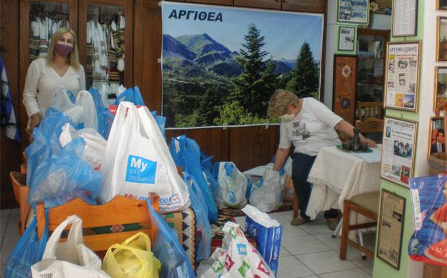 Συγκέντρωση τροφίμων για την ΑΡΓΙΘΕΑ από τον Σύλλογο Αργιθεατών Τρικάλων