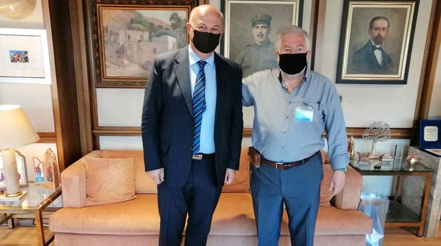 Συνάντηση Δημήτρη Παπακώστα με Υπουργό Δικαιοσύνης Κώστα Τσιάρα