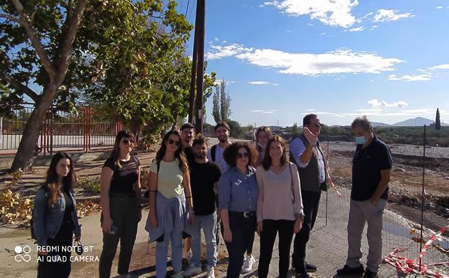 Επίσκεψη επιστημονικής ομάδας του ΠΘ στον Αλμυρό μετά τις καταστροφικές πλημμύρες