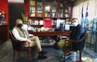 Στον Περιφερειάρχη Θεσσαλίας Κώστα Αγοραστό ο Ολυμπιονίκης υποψήφιος πρόεδρος της ΚΟΕ Σπύρος Γιαννιώτης