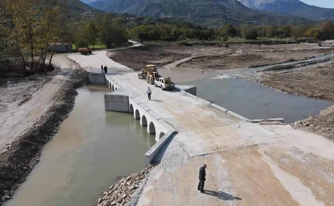 Δόθηκε στην κυκλοφορία η παράκαμψη της γέφυρας Μπαλάνου