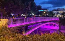 Στα ροζ η γέφυρα των Τρικάλων για την Παγκόσμια Ημέρα Καρκίνου του Μαστού
