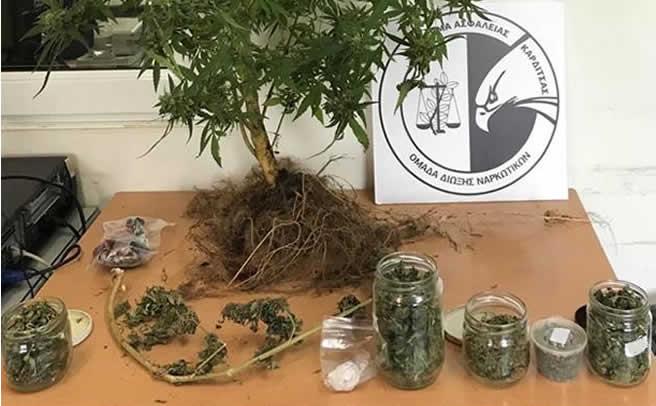 Συνελήφθη ένα άτομο στην Καρδίτσα για παράβαση του νόμου περί ναρκωτικών ουσιών