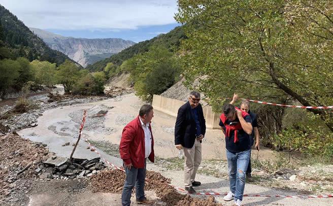 Αυτοψία Γ. Κωτσού σε πληγείσες περιοχές του Δήμου Αργιθέας και στην Μαγουλίτσα