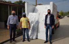 Διανομή στρωμάτων σε πληγέντες από την Π.Ε Καρδίτσας