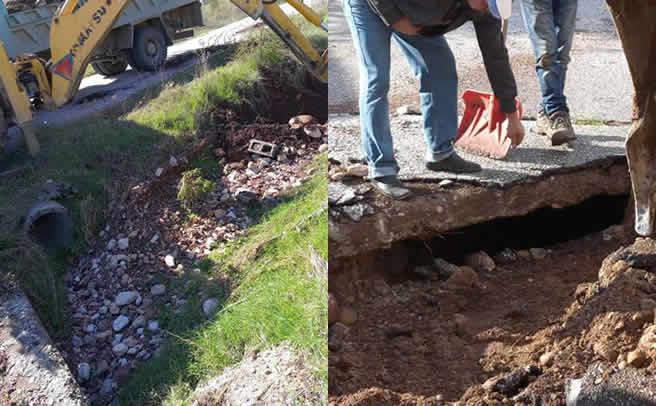 Εργασίες καθαρισμού φρεατίων, αυλάκων και δρόμων στον Πύργο Ιθώμης