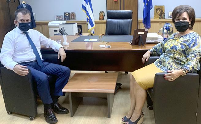Συναντήσεις Ασημίνας Σκόνδρα με Άδωνι Γεωργιάδη και Γιάννη Βρούτση για χρηματοδοτικά εργαλεία και εργασιακά προγράμματα
