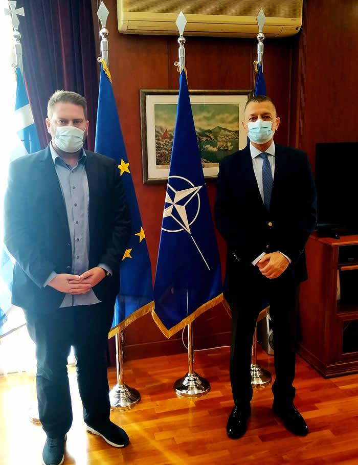 Συνάντηση του Δημάρχου Αργιθέας Ανδρέα Στεργίου με τον Υφυπουργό Εθνικής Άμυνας κ. Στεφανή