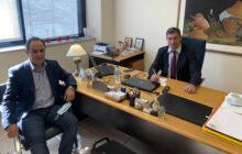 Με τον υποδιοικητή του ΕΛΓΑ κ. Ν. Δούκα συναντήθηκε ο Δήμαρχος Καρδίτσας κ. Β. Τσιάκος