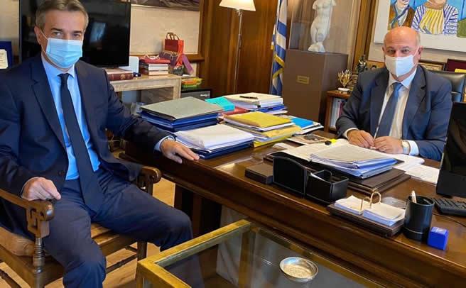 Για τα έργα στο Μουζάκι συζήτησε ο Κ. Τσιάρας με τον Διευθύνοντα Σύμβουλο της ΚτΥπ ΑΕ Αθ. Γιάνναρη