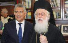 Τηλεφωνική επικοινωνία του Περιφερειάρχη Θεσσαλίας Κ. Αγοραστού με τον Αρχιεπίσκοπο Τιράνων, Δυρραχίου και πάσης Αλβανίας κ.κ. Αναστάσιο
