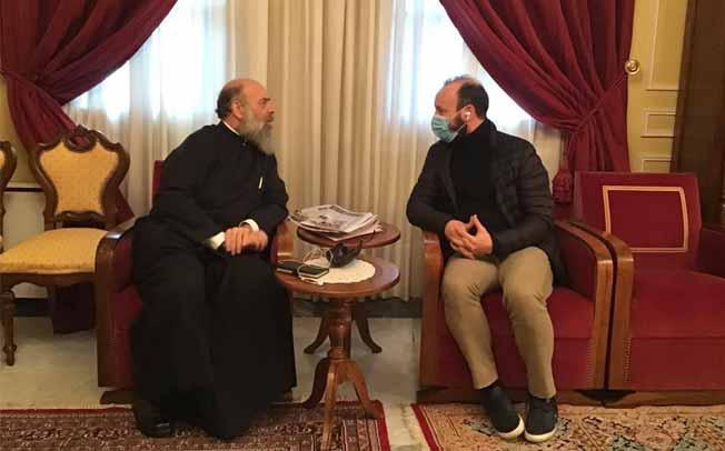 Επίσκεψη Δημάρχου Μουζακίου στον Σεβασμιότατο Μητροπολίτη κ.Τιμόθεο για τη γιορτή του
