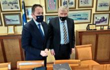 Συνάντηση του Προέδρου ΠΕΔ Θεσσαλίας Αθ. Νασιακόπουλου με τον Αναπληρωτή Υπουργό Εσωτερικών Στ. Πέτσα