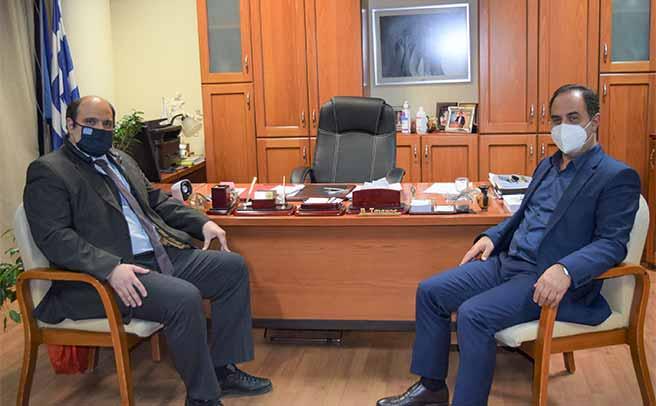 Συνάντηση του Δημάρχου κ. Β. Τσιάκου με τον Γ.Γ. Οικονομικής Πολιτικής κ. Χρ. Τριαντόπουλο