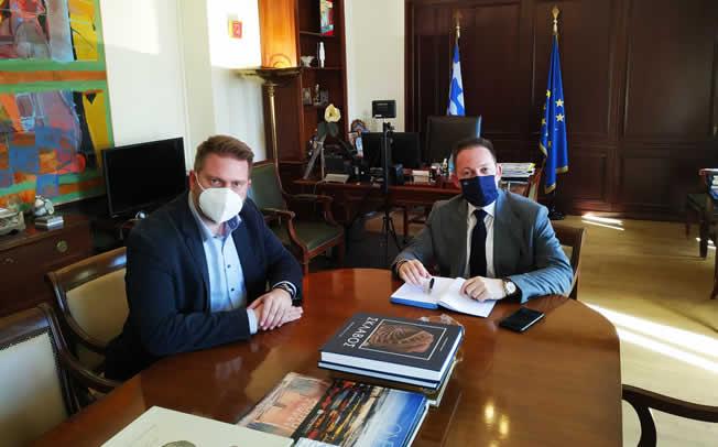 Συνάντηση Δημάρχου Αργιθέας Ανδρέα Στεργίου με τον Αναπληρωτή Υπουργό Εσωτερικών Στέλιο Πέτσα
