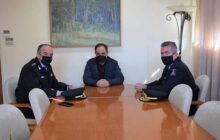 Επίσκεψη του Περιφερειακού Διοικητή Πυροσβεστικής στο Δήμαρχο Καρδίτσας